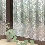 原售2990元【日本MEIWA】抗UV節能3D靜電窗貼★馬賽克 (92x500公分)