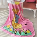 義大利Fancy Belle《長頸鹿無尾熊》雙層雪芙絨童毯100*110CM