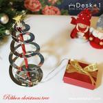 【Desk+1】彩帶聖誕樹燈飾-特