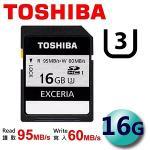 TOSHIBA �F�� 16GB EXCERIA UHS-I Class3 SDHC U3 ���t�d