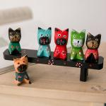 【seoul幸福市集】北歐氣息招財貓木質彩繪家居裝飾