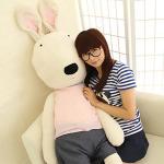 【seoul幸福市集】聖誕節禮品-田園太子兔絨毛娃娃(黑色兔170cm)