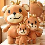 【seoul幸福市集】聖誕節禮品-皇冠熊絨毛娃娃(50cm)
