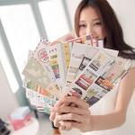 【seoul幸福市集】英倫復古便利貼紙-N次記事貼標記貼(12入)
