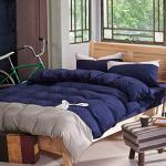 RODERLY 英倫兔(藍) 貼布繡 三件式被套床包組-單人