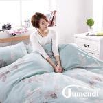 【法國Jumendi-林間逸趣】台灣製活性天絲絨單人三件式被套床包組