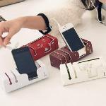 【seoul幸福市集】可愛插畫造型圖案手機收納置物座(雲朵-紅色)