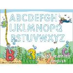 Christine寶貝學習牆貼/ABC學習/卡通牆貼(大) TEC009 可填色-海洋探險