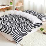 RODERLY 黑白空間 雙色條紋 三件式兩用被床包組-單人