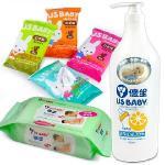 【優生】口手臉濕巾8抽3包(2組)+濕巾80抽3包+蔬果奶瓶清潔劑1000ml(柚香)