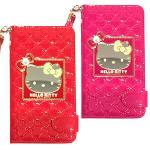 iPhone6S / iPhone 6_ 4.7吋HELLOKITTY鏡面格紋皮夾式手機皮套(紅色)