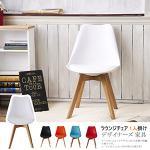 經典款皮革坐墊造型椅(白色)