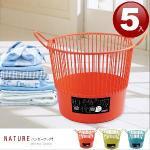 《MODERN》米納洗衣籃(5入隨機色)