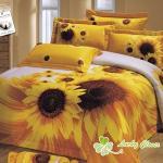幸運草【金太陽】八件式精梳棉雙人床罩組