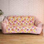 【HomeBeauty】急凍涼感輕便沙發保潔墊-1+2+3人座(三色任選)(太陽花)