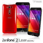 metal-slim Asus Zenfone2 Laser(ZE500KL)高抗括透明保護殼(透明)