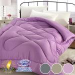 【ENNE】MIT超柔暖3M吸濕排汗專利單色羽絲絨被2.0KG-三色任選(迷情紫)