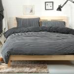 Royal Liaterie【品味空間-碳黑】100%純棉針織 單人 四件式床包被套組