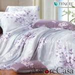 【AmoreCasa】花映情懷 100%TENCEL天絲加大兩用被舖棉床包組