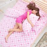 Missya【水玉蝴蝶結】雙人超暖搖粒絨兩用被床包組