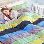 Missya【愛麗絲夢境-灰】雙人超暖搖粒絨兩用被床包組