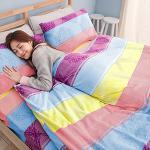 Missya【愛麗絲夢境-紫】雙人超暖搖粒絨兩用被床包組