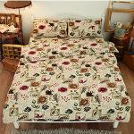 Missya【植物園】雙人超暖搖粒絨兩用被床包組