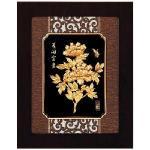 鹿港窯-立體金箔畫-花開富貴(框畫系列27x34cm)