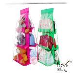 Love Buy大容量六格皮包收納掛袋_超值二入(桃紅1綠1)
