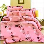 花情寄語-粉 台灣製加大五件式純棉床罩組