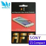 【WINDTAC】Sony Xperia Z5 Compact 專用亮面防指紋螢幕保護貼