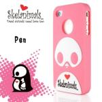Skelanimals骷髏獸 Apple iPhone 4 /iPhone 4S 保護殼(Pen-粉)