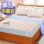 J‧bedtime【童話-紅】單人防潑水平單式保潔墊