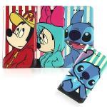【Disney 】iPhone 6/6s 時尚彩繪人物隱磁側掀皮套(米奇)