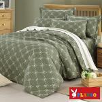 【PLAYBOY】懷舊風格 加大六件式兩用被床罩組