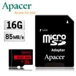【會招下殺↘】Apacer宇瞻16GB MicroSDHC UHS-I C10記憶卡(85MB/s)