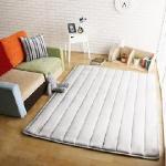 【HomeBeauty】舒柔柔法蘭絨極厚矩形加大地墊-180x150cm(共八色)(牛奶白)