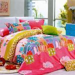 塔妮雅【鄉村生活】雙人全舖棉四件式二用被床包組