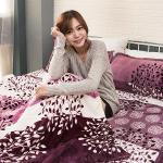 Lapin 浪漫月夜 法蘭絨雙人四件式兩用被鋪棉床罩組