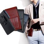 CB LG V10/LG G flex 2 系列 5.5吋以內 帥氣直立手機腰包皮套(黑色)