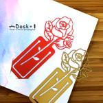 【Desk+1】薔薇書籤(紅+金)雙件組-特