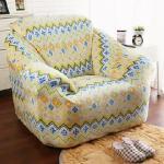 【HomeBeauty】新印花頂級柔暖法蘭絨沙發罩-1人座(共八色)(金式法頌)