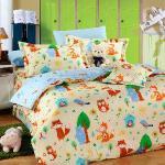 Novaya《喜兒坊》絲光棉雙人四件式鋪棉兩用被床包組(綠)