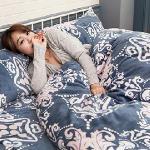 Lapin 皇家風範 法蘭絨特大四件式兩用被鋪棉床包組