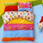 塔妮雅【向陽花】加大全舖棉四件式二用被床包組
