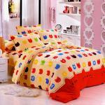 塔妮雅【糖果貓】雙人法萊絨四件式兩用被舖棉床包組