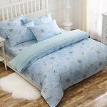 Royal Literie《蔚藍星情》100%天絲 特大四件式兩用被套床包組