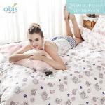 【obis】100%純棉雙人加大6X6.2尺床包兩用被組-織夢天堂