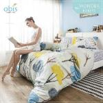 【obis】100%純棉單人3.5X6.2尺床包兩用被組-奇幻森林