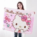【seoul幸福市集】日本空運Hello Kitty金紡絨舒柔毛毯(粉-鑽石貓)